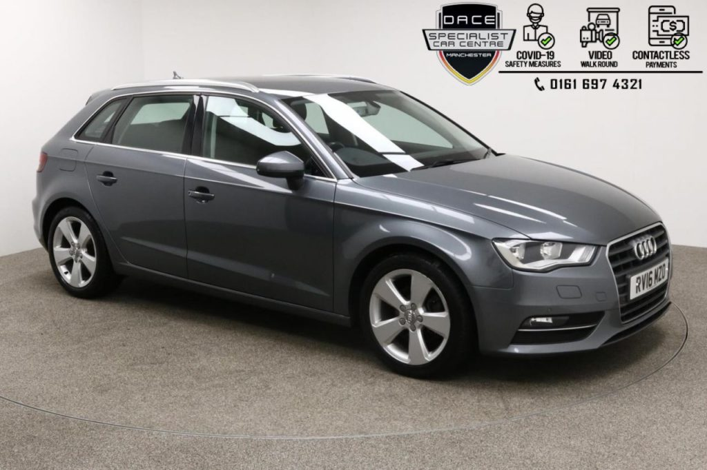 Used 2016 GREY AUDI A3 Hatchback 2.0 TDI SPORT NAV 5d 148 BHP (reg. 2016-04-18) for sale in Manchester