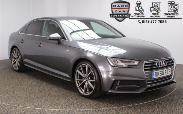 Used 2016 GREY AUDI A4 Saloon 2.0 TFSI S LINE 4DR AUTO 1 OWNER 188 BHP (reg. 2016-09-05) for sale in Stockport