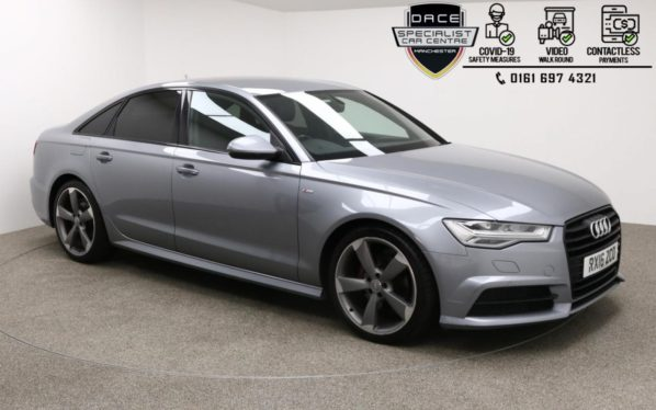 Used 2016 GREY AUDI A6 Saloon 2.0 TDI ULTRA BLACK EDITION 4d AUTO 188 BHP (reg. 2016-03-02) for sale in Manchester