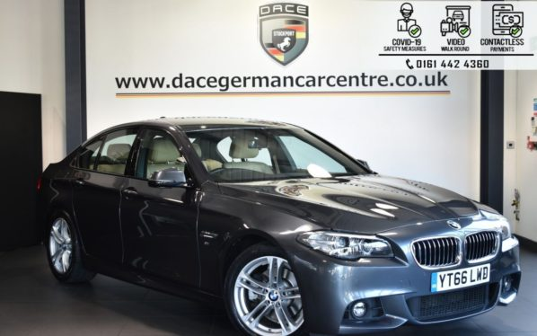 Used 2016 GREY BMW 5 SERIES Saloon 2.0 520D M SPORT 4DR AUTO 188 BHP (reg. 2016-09-06) for sale in Bolton