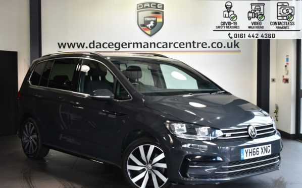 Used 2016 GREY VOLKSWAGEN TOURAN MPV 2.0 R-LINE TDI BLUEMOTION TECHNOLOGY 5DR 148 BHP (reg. 2016-11-14) for sale in Bolton