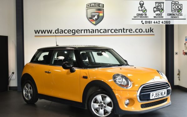 Used 2016 ORANGE MINI HATCH COOPER Hatchback 1.5 COOPER 3DR 134 BHP (reg. 2016-10-27) for sale in Bolton
