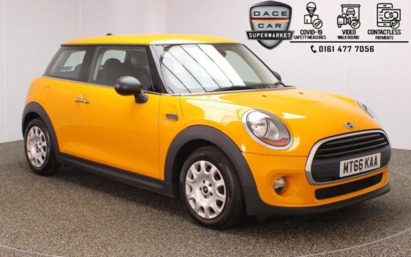 Used 2016 ORANGE MINI HATCH ONE Hatchback 1.2 ONE 3d 101 BHP (reg. 2016-11-19) for sale in Stockport
