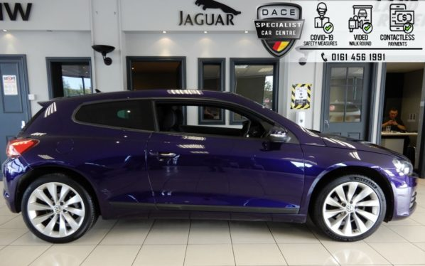 Used 2016 PURPLE VOLKSWAGEN SCIROCCO Coupe 2.0 GT TDI BLUEMOTION TECHNOLOGY DSG 2d AUTO 150 BHP (reg. 2016-07-08) for sale in Hazel Grove