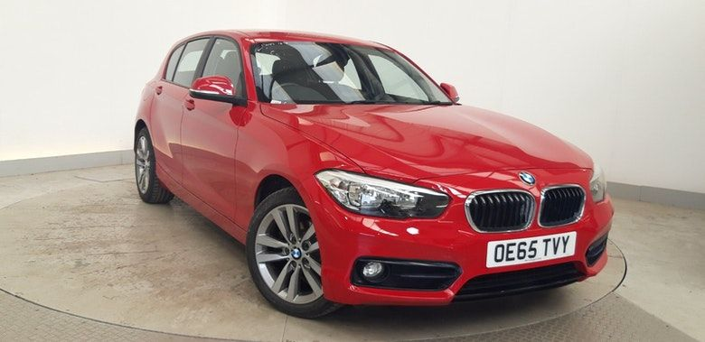 Used 2016 RED BMW 1 SERIES Hatchback 1.5 116D SPORT 5d 114 BHP (reg. 2016-01-06) for sale in Manchester