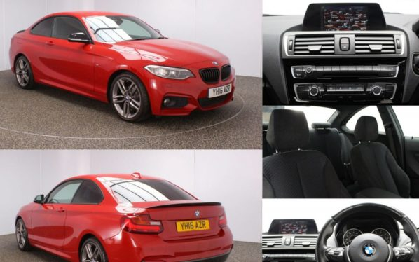 Used 2016 RED BMW 2 SERIES Coupe 2.0 218D M SPORT 2DR 148 BHP (reg. 2016-03-21) for sale in Stockport
