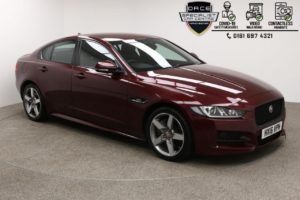 Used 2016 RED JAGUAR XE Saloon 2.0 GTDI R-SPORT 4d AUTO 237 BHP (reg. 2016-03-01) for sale in Manchester