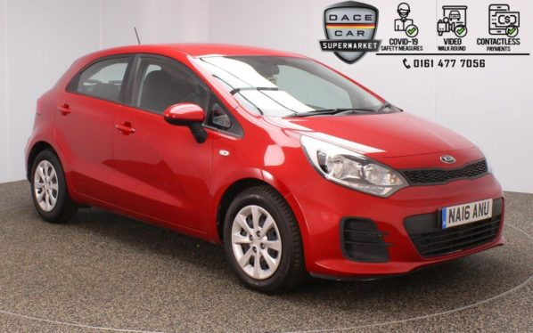 Used 2016 RED KIA RIO Hatchback 1.1 CRDI 1 ISG 5DR 1 OWNER 74 BHP (reg. 2016-05-16) for sale in Stockport
