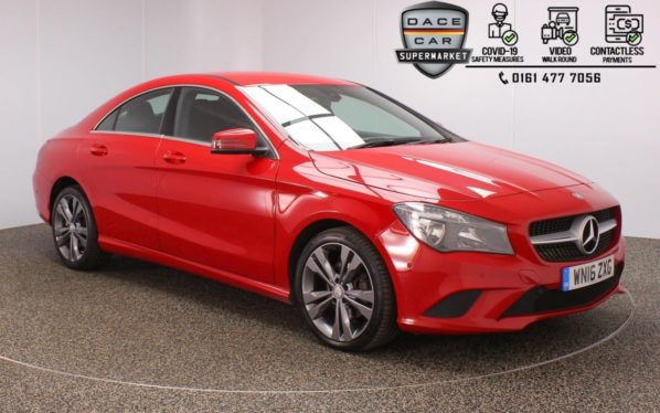 Used 2016 RED MERCEDES-BENZ CLA Coupe 2.1 CLA 200 D SPORT 4DR 1 OWNER AUTO 134 BHP (reg. 2016-05-04) for sale in Stockport