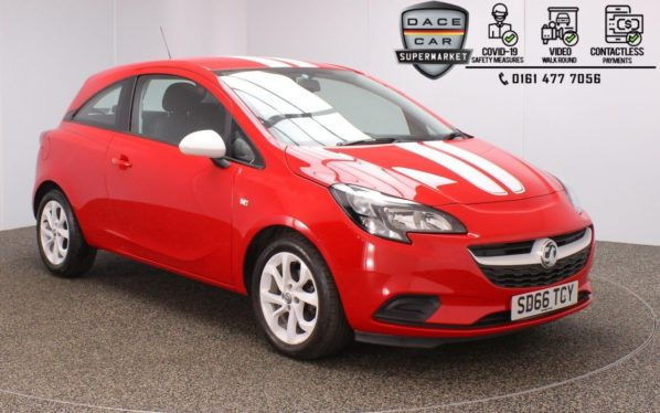 Used 2016 RED VAUXHALL CORSA Hatchback 1.4 STING ECOFLEX 3DR 74 BHP (reg. 2016-09-29) for sale in Stockport