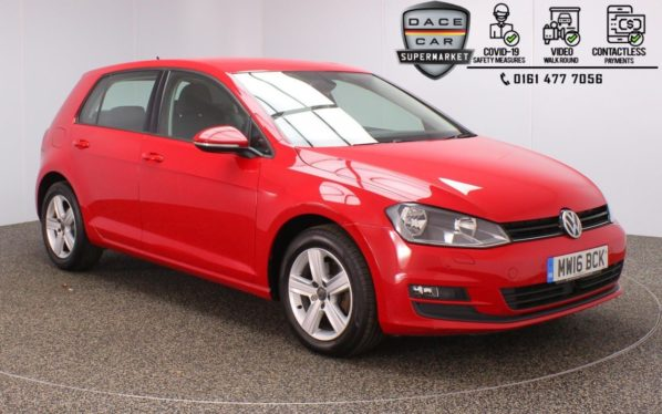 Used 2016 RED VOLKSWAGEN GOLF Hatchback 1.6 MATCH EDITION TDI BMT 5DR 1 OWNER 109 BHP (reg. 2016-07-18) for sale in Stockport