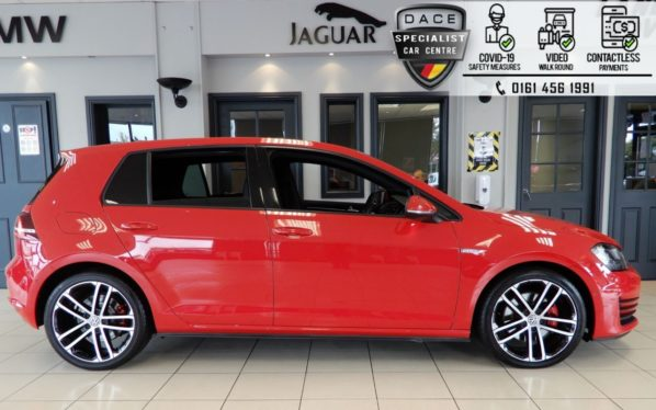 Used 2016 RED VOLKSWAGEN GOLF Hatchback 2.0 GTD DSG 5d AUTO 182 BHP (reg. 2016-07-13) for sale in Hazel Grove