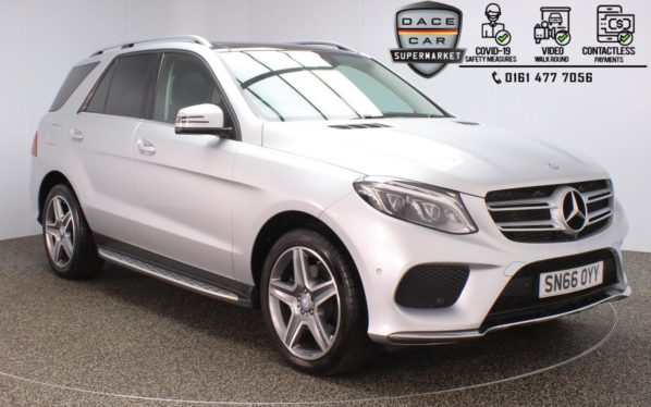 Used 2016 SILVER MERCEDES-BENZ GLE-CLASS 4x4 2.1 GLE 250 D 4MATIC AMG LINE PREMIUM 5DR 1 OWNER AUTO 201 BHP (reg. 2016-09-29) for sale in Stockport