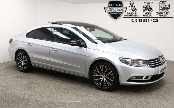 Used 2016 SILVER VOLKSWAGEN CC Coupe 2.0 GT BLACK EDITION TDI BMT 4d 148 BHP (reg. 2016-07-15) for sale in Manchester