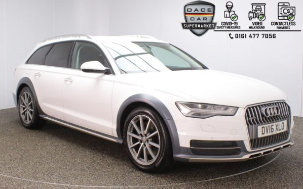 Used 2016 WHITE AUDI A6 AllRoad Estate 3.0 ALLROAD TDI QUATTRO SPORT 5DR 1 OWNER AUTO 268 BHP (reg. 2016-03-19) for sale in Stockport