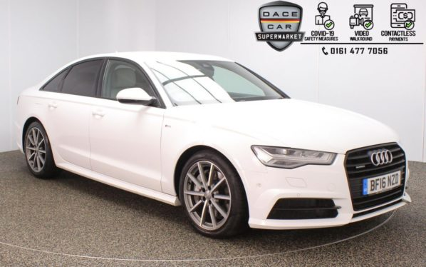 Used 2016 WHITE AUDI A6 Saloon 3.0 TDI QUATTRO BLACK EDITION 4DR 1 OWNER AUTO 315 BHP (reg. 2016-04-22) for sale in Stockport