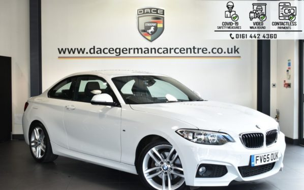 Used 2016 WHITE BMW 2 SERIES Coupe 2.0 220D M SPORT 2DR 188 BHP (reg. 2016-01-08) for sale in Bolton