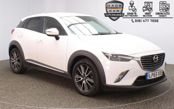 Used 2016 WHITE MAZDA CX-3 Hatchback 1.5 D SPORT NAV 5DR 1 OWNER 104 BHP (reg. 2016-01-18) for sale in Stockport