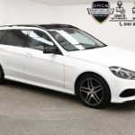 Used 2016 WHITE MERCEDES-BENZ E-CLASS Estate 2.1 E220 BLUETEC AMG NIGHT ED PREMIUM PLUS 5d AUTO 174 BHP (reg. 2016-04-05) for sale in Manchester