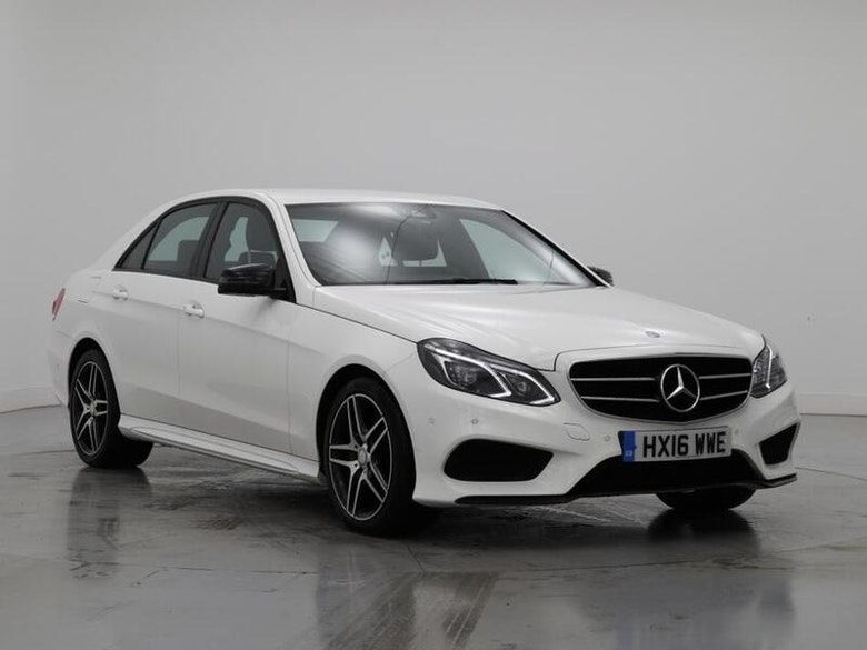 Used 2016 WHITE MERCEDES-BENZ E-CLASS Saloon 3.0 E350 BLUETEC AMG NIGHT EDITION 4d AUTO 255 BHP (reg. 2016-03-30) for sale in Manchester