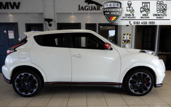 Used 2016 WHITE NISSAN JUKE Hatchback 1.6 NISMO RS DIG-T 5d 215 BHP (reg. 2016-07-21) for sale in Hazel Grove