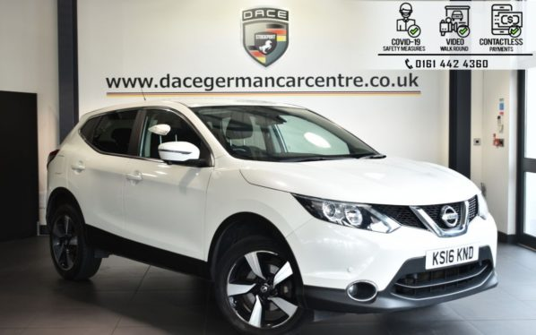 Used 2016 WHITE NISSAN QASHQAI Hatchback 1.2 N-CONNECTA DIG-T 5DR 113 BHP (reg. 2016-05-13) for sale in Bolton