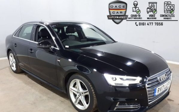 Used 2017 BLACK AUDI A4 Saloon 2.0 TDI ULTRA S LINE 4DR 1 OWNER AUTO 188 BHP (reg. 2017-03-23) for sale in Stockport