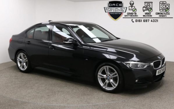Used 2017 BLACK BMW 3 SERIES Saloon 3.0 330D M SPORT 4d AUTO 255 BHP (reg. 2017-07-31) for sale in Manchester