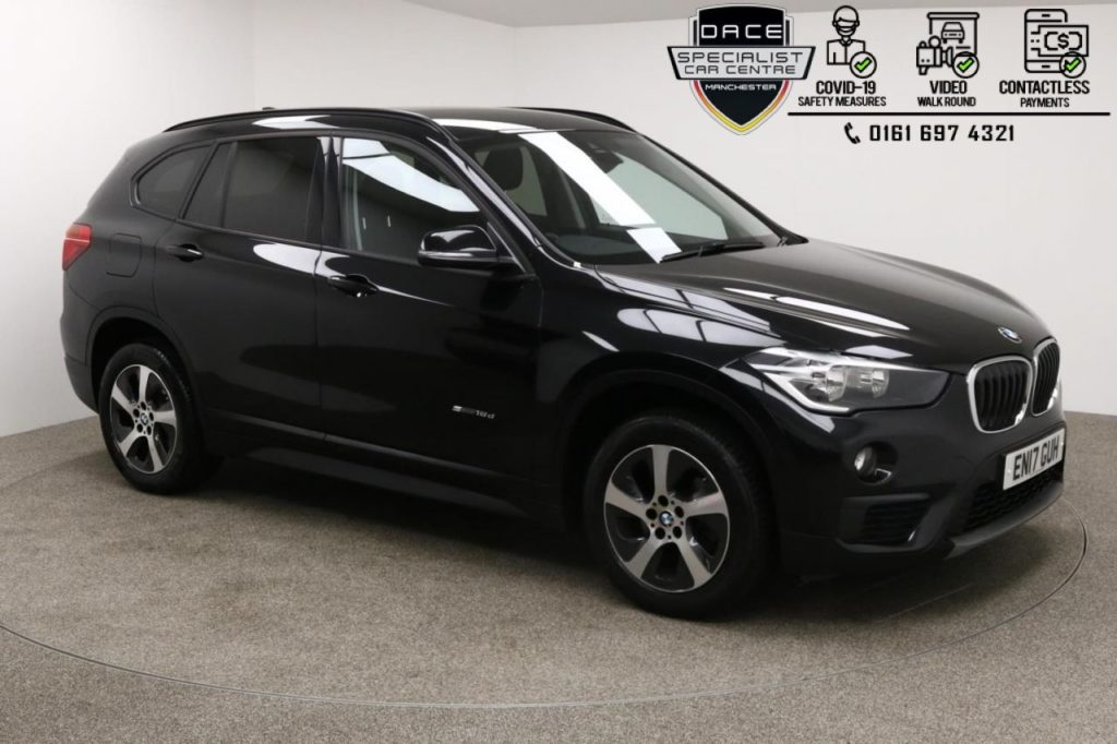 Used 2017 BLACK BMW X1 Estate 2.0 SDRIVE18D SE 5d AUTO 148 BHP (reg. 2017-06-08) for sale in Manchester