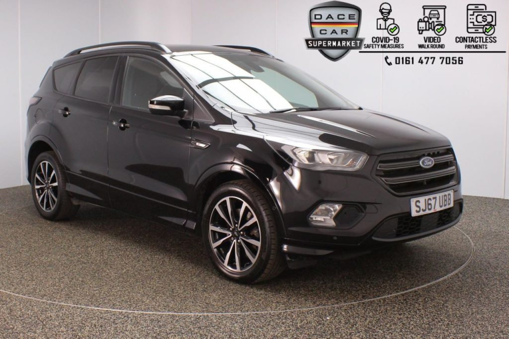 Used 2017 BLACK FORD KUGA Hatchback 1.5 ST-LINE TDCI 5DR AUTO 119 BHP (reg. 2017-09-06) for sale in Stockport