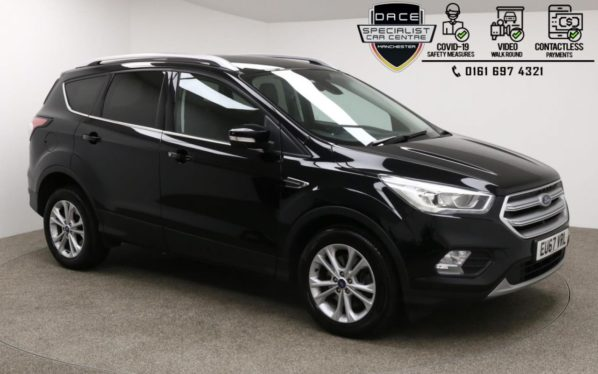 Used 2017 BLACK FORD KUGA Hatchback 1.5 TITANIUM TDCI 5d AUTO 119 BHP (reg. 2017-09-07) for sale in Manchester