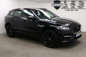 Used 2017 BLACK JAGUAR F-PACE Estate 2.0 R-SPORT 5d 161 BHP (reg. 2017-08-17) for sale in Manchester