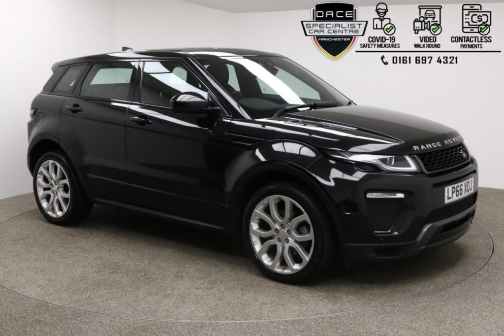 Used 2017 BLACK LAND ROVER RANGE ROVER EVOQUE 4x4 2.0 TD4 HSE DYNAMIC 5d AUTO 177 BHP (reg. 2017-01-24) for sale in Manchester