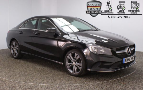 Used 2017 BLACK MERCEDES-BENZ CLA Coupe 1.6 CLA 180 SPORT 4DR 1 OWNER 121 BHP (reg. 2017-01-04) for sale in Stockport