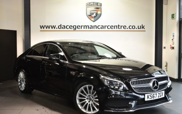 Used 2017 BLACK MERCEDES-BENZ CLS CLASS Coupe 2.1 CLS220 D AMG LINE 4DR AUTO 174 BHP (reg. 2017-11-30) for sale in Bolton