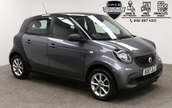 Used 2017 BLACK SMART FORFOUR Hatchback 1.0 PASSION 5d 71 BHP (reg. 2017-07-26) for sale in Manchester