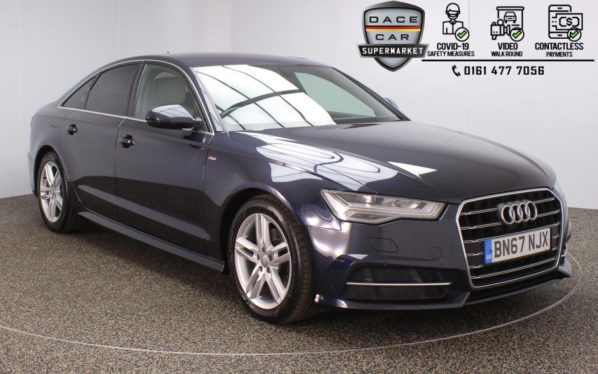 Used 2017 BLUE AUDI A6 Saloon 2.0 TDI ULTRA S LINE 4DR AUTO 188 BHP (reg. 2017-09-29) for sale in Stockport
