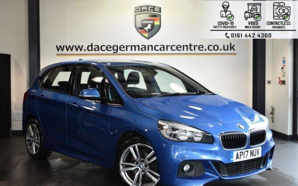 Used 2017 BLUE BMW 2 SERIES ACTIVE TOURER Hatchback 2.0 218D M SPORT 5DR AUTO 148 BHP (reg. 2017-06-30) for sale in Bolton