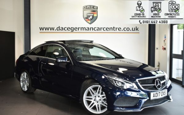 Used 2017 BLUE MERCEDES-BENZ E-CLASS Coupe 3.0 E 350 D AMG LINE EDITION 2DR AUTO 255 BHP (reg. 2017-03-31) for sale in Bolton