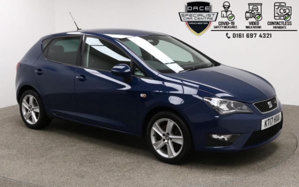 Used 2017 BLUE SEAT IBIZA Hatchback 1.2 TSI FR TECHNOLOGY 5d 109 BHP (reg. 2017-07-28) for sale in Manchester