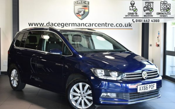 Used 2017 BLUE VOLKSWAGEN TOURAN MPV 1.4 SEL TSI BLUEMOTION TECHNOLOGY DSG 5DR 7SEATS AUTO 148 BHP (reg. 2017-02-24) for sale in Bolton