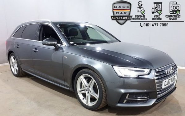 Used 2017 GREY AUDI A4 AVANT Estate 2.0 AVANT TDI S LINE 5DR 1 OWNER AUTO 188 BHP (reg. 2017-06-29) for sale in Stockport