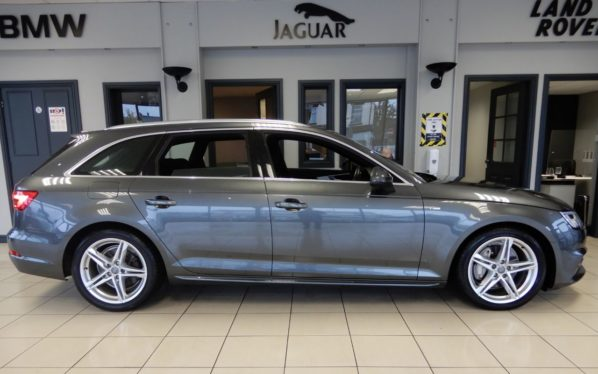 Used 2017 GREY AUDI A4 Estate 2.0 AVANT TDI ULTRA S LINE 5d AUTO 188 BHP (reg. 2017-06-02) for sale in Hazel Grove