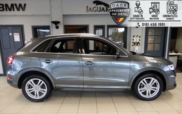 Used 2017 GREY AUDI Q3 Estate 2.0 TDI S LINE EDITION 5d 148 BHP (reg. 2017-07-20) for sale in Hazel Grove