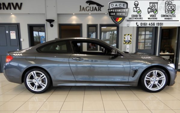 Used 2017 GREY BMW 4 SERIES Coupe 2.0 430I M SPORT 2d AUTO 248 BHP (reg. 2017-03-14) for sale in Hazel Grove