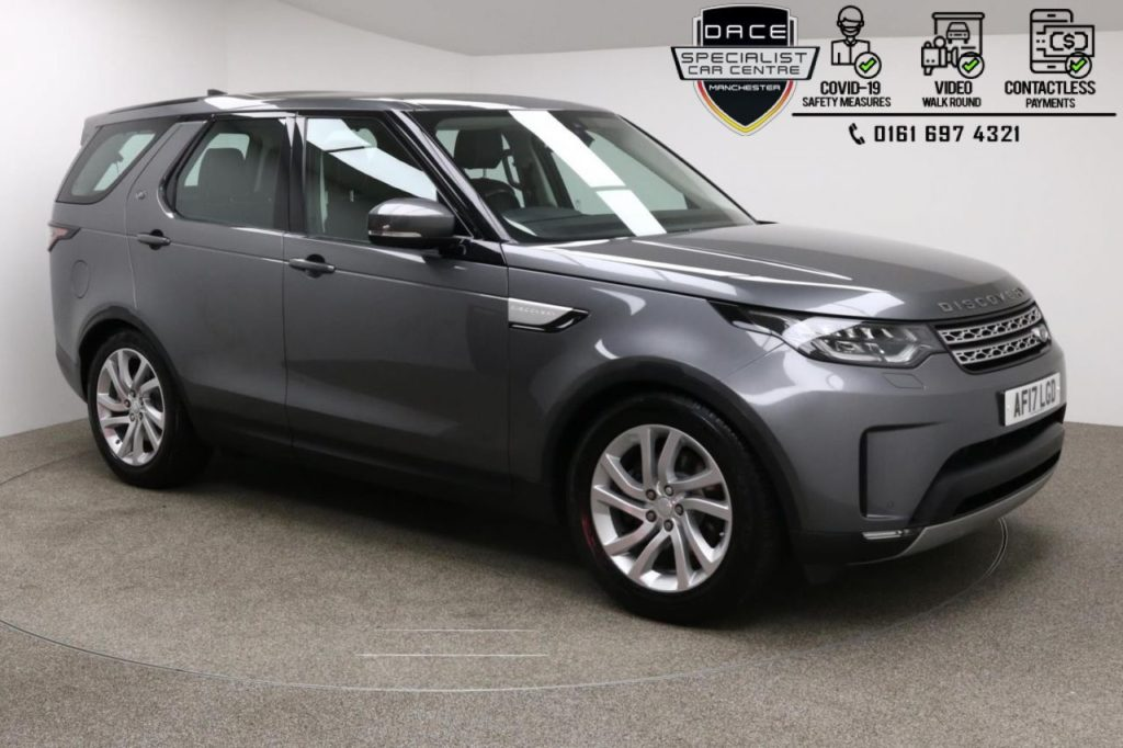 Used 2017 GREY LAND ROVER DISCOVERY 4x4 2.0 SD4 HSE 5d AUTO 237 BHP (reg. 2017-04-03) for sale in Manchester