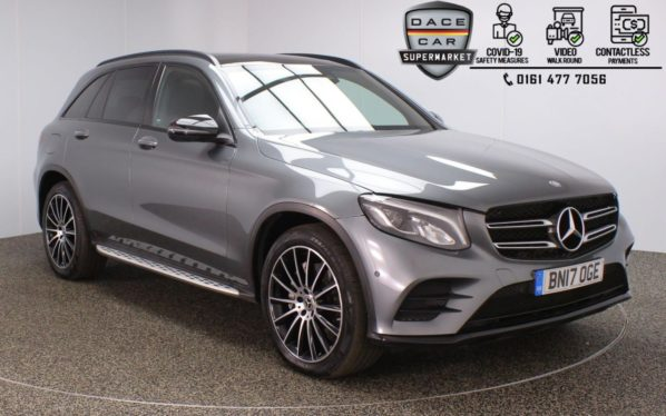 Used 2017 GREY MERCEDES-BENZ GLC-CLASS 4x4 2.1 GLC 250 D 4MATIC AMG LINE PREMIUM PLUS 5DR AUTO 201 BHP (reg. 2017-04-13) for sale in Stockport