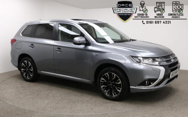 Used 2017 GREY MITSUBISHI OUTLANDER 4x4 2.0 PHEV 4H 5d AUTO 200 BHP (reg. 2017-03-25) for sale in Manchester