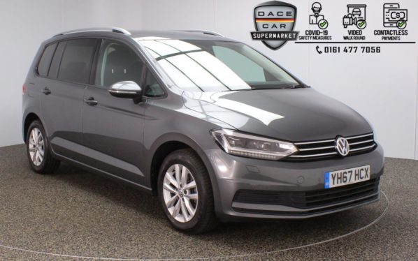 Used 2017 GREY VOLKSWAGEN TOURAN MPV 1.6 SE TDI BLUEMOTION TECHNOLOGY DSG 5DR AUTO 114 BHP (reg. 2017-10-31) for sale in Stockport