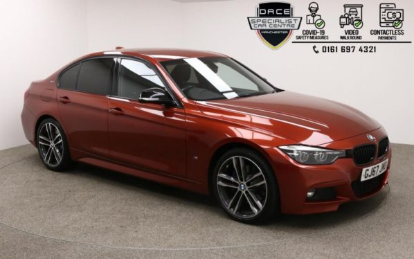 Used 2017 ORANGE BMW 3 SERIES Saloon 2.0 330E M SPORT SHADOW EDITION 4d AUTO 249 BHP (reg. 2017-11-09) for sale in Manchester